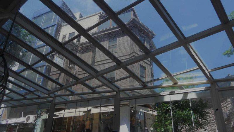 Açılabilir Şeffaf Cam Çatı Sistemleri